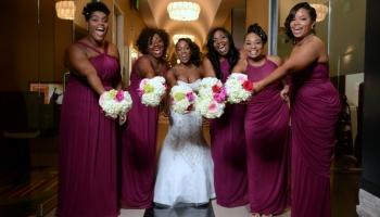 Nicole Yvette Signature Events - Asisha Ira Wedding - Asisha with Bridesmaids Y - R Crank